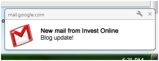 E-mail pop-up