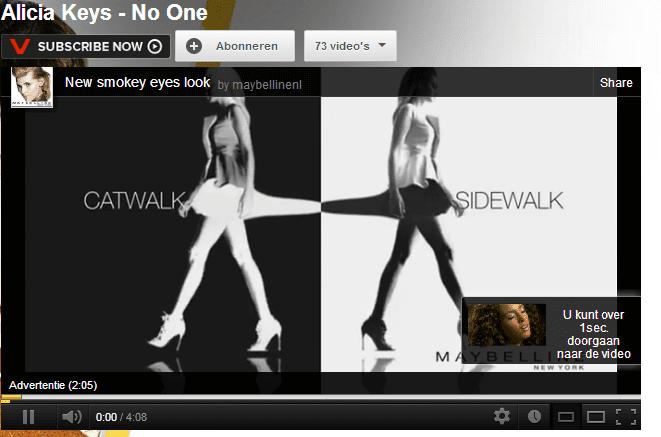in stream adverteren YouTube