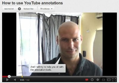 Voorbeeld call-to-action in YouTube video