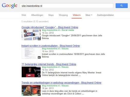 Indexatie van video content op je website