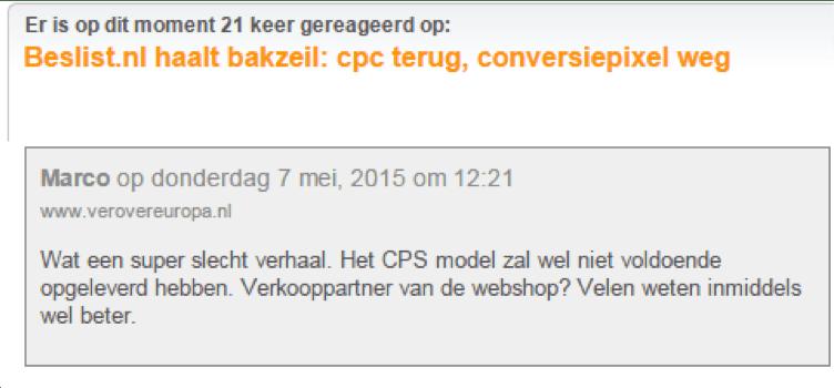CPC Beslist.nl affiliate