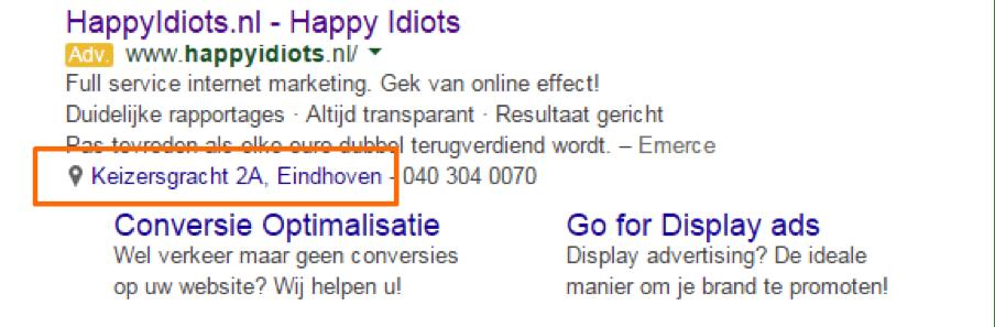 Online marketing adwords