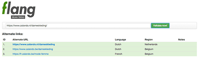 Hreflang testing tool correct