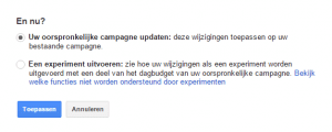 experiment adwords