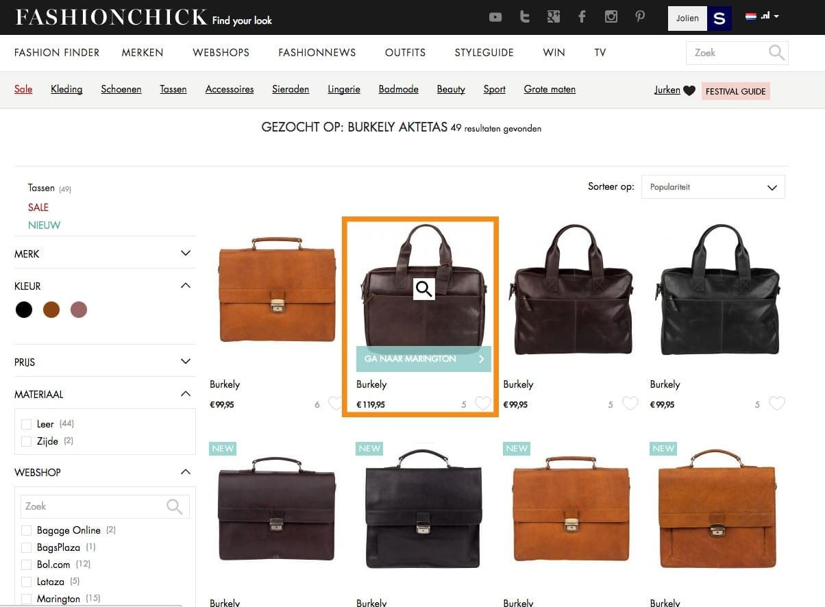 Fashionchick productfeed