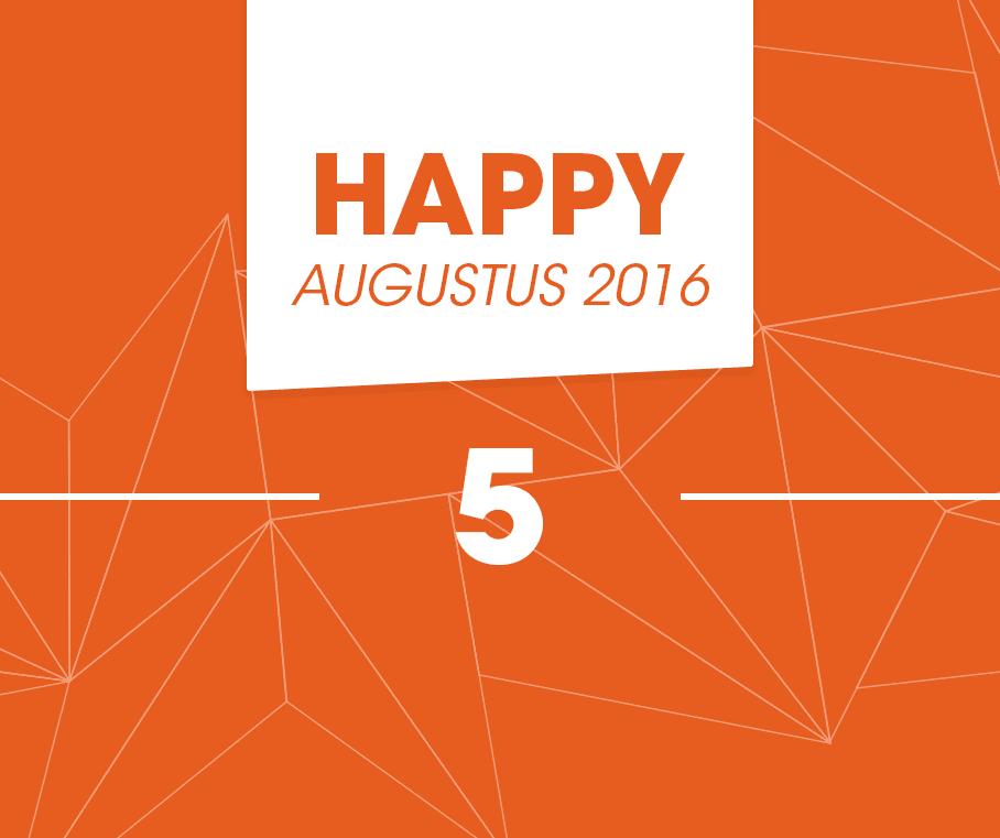 De Happy 5 van augustus