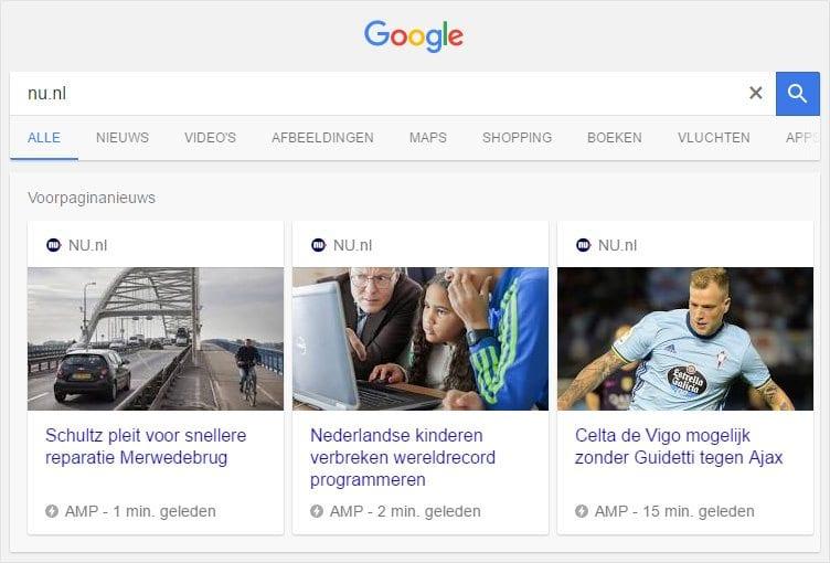 AMP op nu.nl