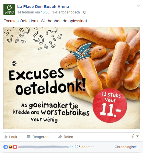 La Place excuses oeteldonk