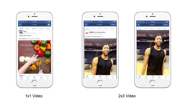 Facebook vertical video