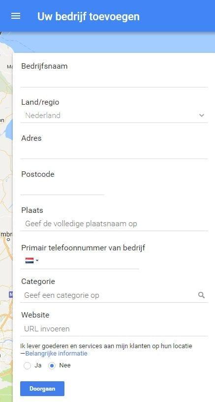 Google My Business account aanmaken