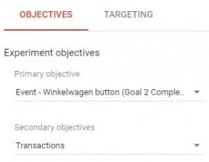 Google Optimize en Analytics